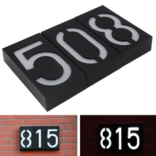 Wall Mount Solar House Number Porch Lights Doorplate Light
