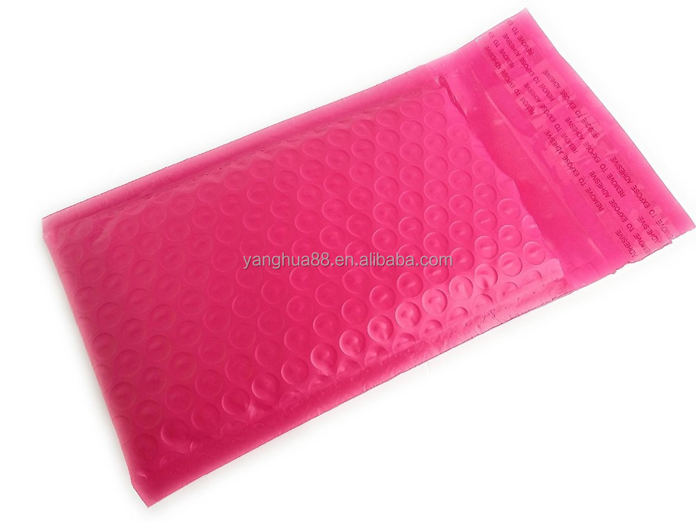 Pink Poly Bubble Mailers Bulk Self Seal Padded Envelopes 4 x 8 Shipping Bubble Mailer Bags (Pack of 50)