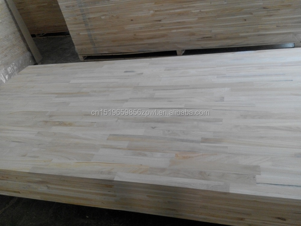 Paulownia/Pine/Fir/Rubber wood Finger joint board/Panel