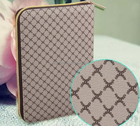 New design quilted zipper PU leather bag for ipad air 2 hard pc case