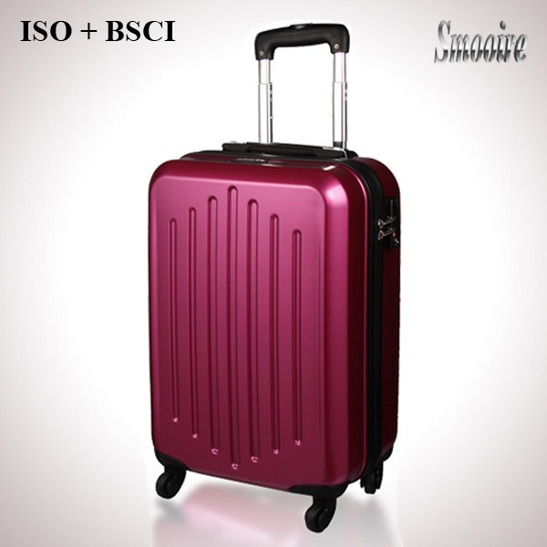 Hot sale 100% PC trolley travel bag for woman