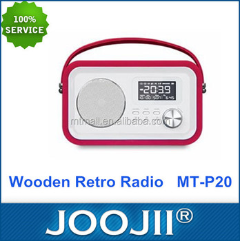 Promotional Portable Retro Alarm Clock Radio with Micro TF-card and USB /SD/Bluetooth
