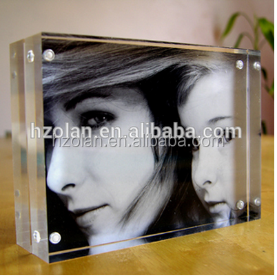 vertical acrylic photo frame/Promotional Christmas Gift Photo Frame