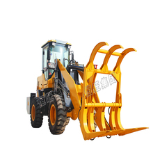 Factory directly provide four wheel small sugar cane loader