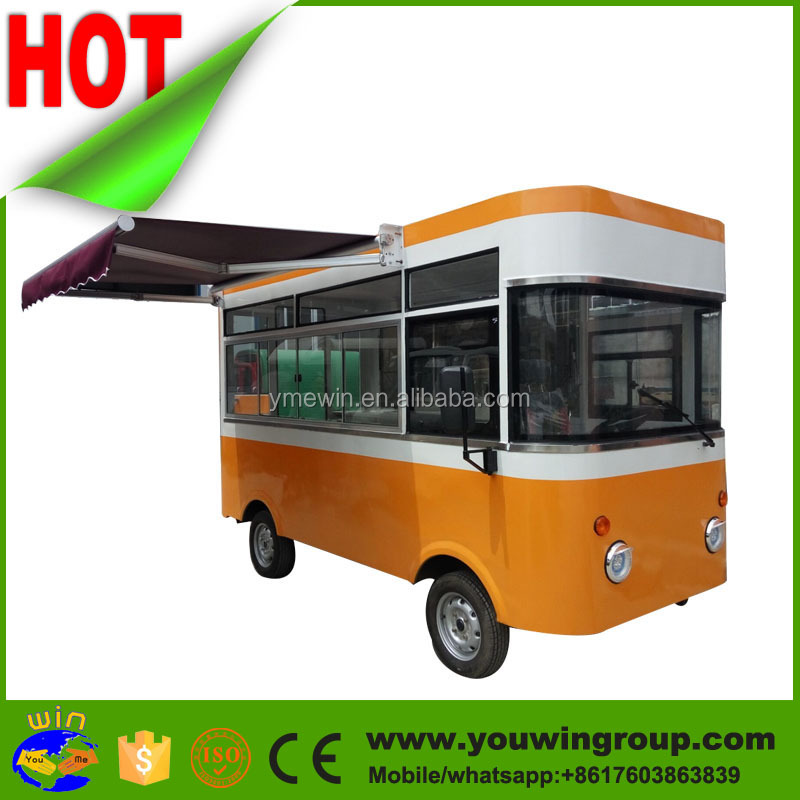 Hot Sale soft serve Food Truck/Coffee Cart/Mobile Ice Cream Cart for sale