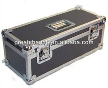 "300 LP VINYL 7"" RECORD DJ BLACK/SILVER PRO STORAGE FLIGHT CARRY CASE BOX(XY-415)"