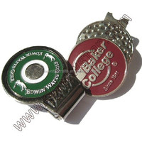 Golf cap clip with ball marker