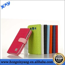 2014 New Products Luxury Flip Leather Wallet Dual Colors Case For Samsung Galaxy S3.