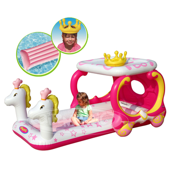 aiR MaGic Hot Sale -8201 Princess Carriage Design Pool,PVC Inflatable Carriage Toy