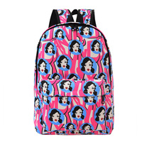 Women Sexy Girl Canvas Fashion Backpack Shoulder School Bag Travel Satchel