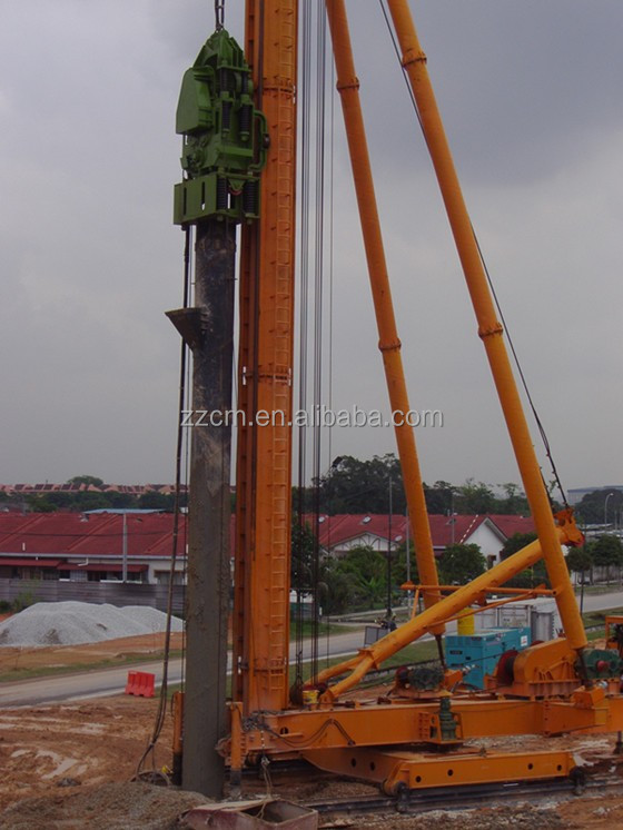 JZB120 walking piling frame for foundation construction without power head