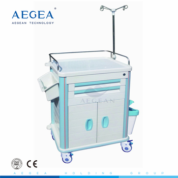 AG-ET015B1 advanced low price medicine cart hospital plastic emergency cart