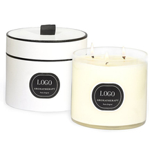 Scented Candle With 3 Wicks White Soft Blossom White Scented Candle