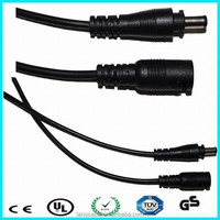 High quality 5V 18 AWG waterproof extension dc power cable for solar