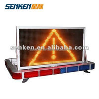 LED light bar and led display screen for police traffic cars