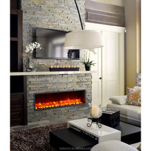 decor flame led electric fireplace insert heater