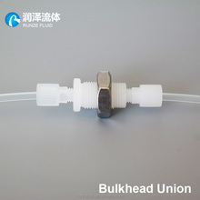 PP PTFE plastic tube connector liquid analyzer hose connector