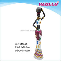 Polyresin african black woman figurine craft for gift