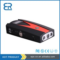 12000mAh multi function snap on jump starter with flame-retarded plastic case