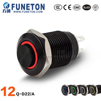 Professional motorcycle push button switch,12mm mini switch push button