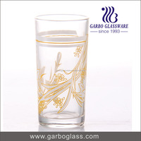 factory yellow flower printing cheap hotel wholesale cheap glassware