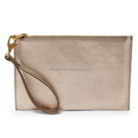 women genuine first layer leather wristlet bag