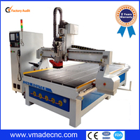 China 1325 disk type 8 auto tool changer 3 axis cnc router engraver machine disk atc woodworking lathe
