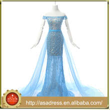RASA-47 Fairy Detachable Panel Train Prom Dress Tulle Off Shoulder Vestidos Curtos for Special Occasion Party Gown Real