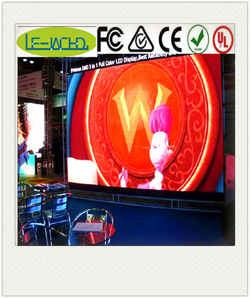 curve edit softwar 3d hd indoor p7.62 led video wall display screen