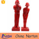 Red color life size abstract resin man and woman figurines NT--FSA091