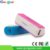 2015 Wholesale Mini Lipstick Power Bank 2600mAh Battery Charger Power Bank for iPhone and Blackberry