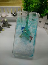 2015 Manufacturer Supplier Swimming Dolphin Flowing Star Liquid Floating 3d Phone Case For Iphone 5/6 /6s/ 6Plus