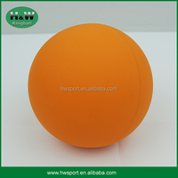 Orange color 60cm hollow rubber hi bounce ball