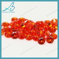 Wholesale AAA 2.25mm orange round cubic zirconia gemstone