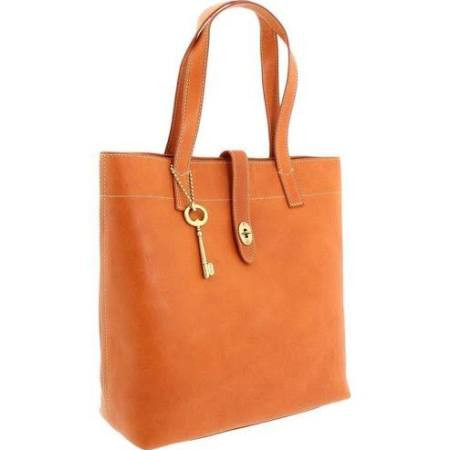 Fos_sil Aus_tin Tote_Saddle Brown_Leather Women's Ladies Hand Bag Zb5592216