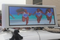 Outdoor Double Side P3 Full Color 3G/4G Taxi Roof LED Sign/ Car Top Display/Taxi Light Box