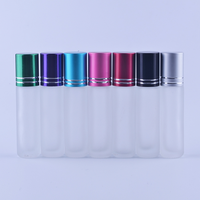 MUB 8ml 10ml empty frosted clear glass roll on deodorant bottles with aluminum caps for essential oil
