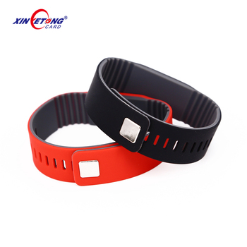 F08 NFC HF High Quality Factory custom design silicon disposable rfid bracelet Wristbands