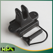 HPS Products Ranch plastic pet fence pinlock insulator for electric fence