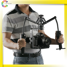 professional best stability double handheld video camera gimbal for nikon for canon for sony