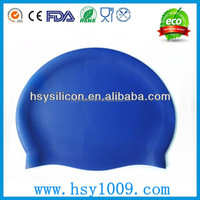 good elastic swimming cap silicone rubber
