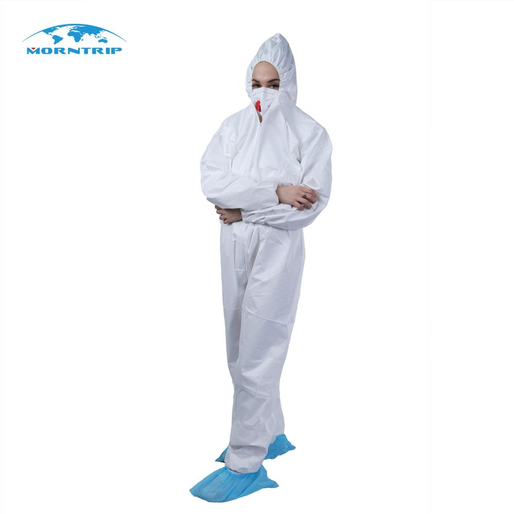 <strong>Safety</strong> Protective White Non Woven Type 5 6 Coveralls Disposable Suit