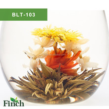 BLT-103 Flavor Flower Blooming Tea Ball Handmade with Green tea lily jasmine