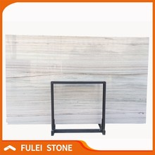 Eurasian Wooden Marble Cultured Marble Slabs for Bathroom
