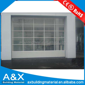 Aluminum alloy full vision glass garage doors / Automatic commercial glass garage doors