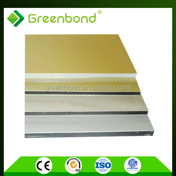 Greenbond modern design aluminum composite material for boat interior wall building
