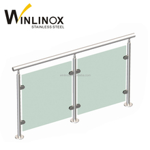 stainless steel fittings 8-12mm tempered glass railing holder