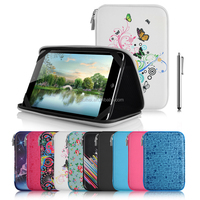 Portable protective waterproof synthetic PU solid plastic zippered tablet carrying case bag for iPad, Samsung Tab