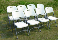 Wedding banquet cheap white folding plastic chair