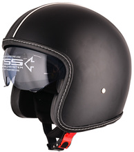 Leather cover DOT approved motorcycle open face helmet fashion design